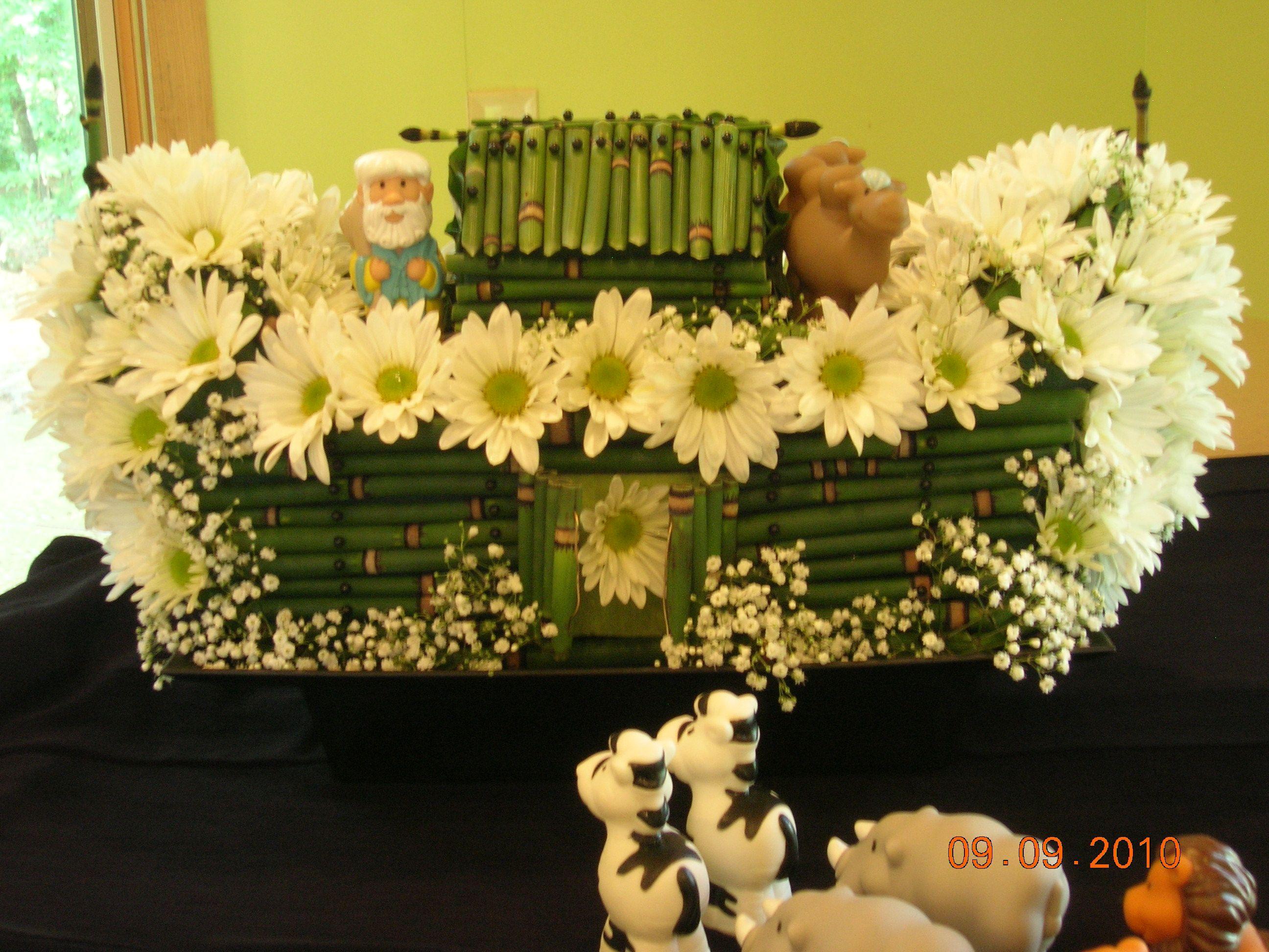 Noah s Ark baby shower centerpiece