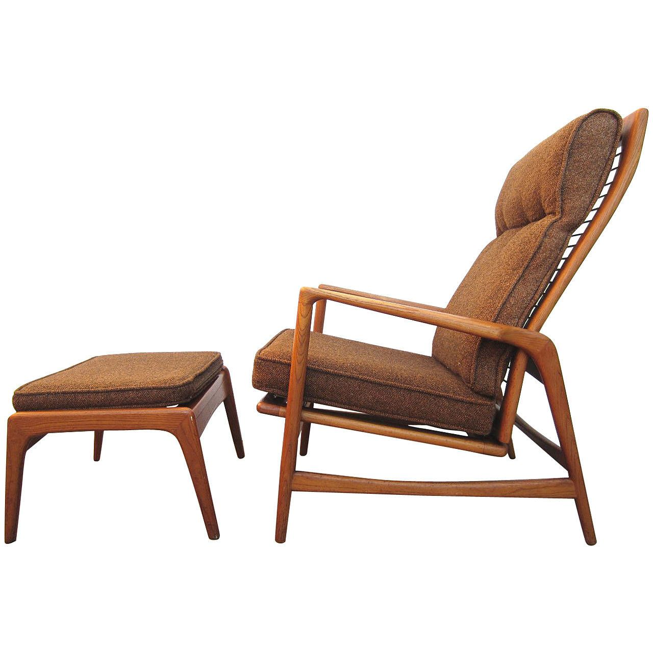 1950 Danish Mid Century Modern Lounge Chair And Ottoman Ib Kofod Mid  Century Modern Lounge Chair