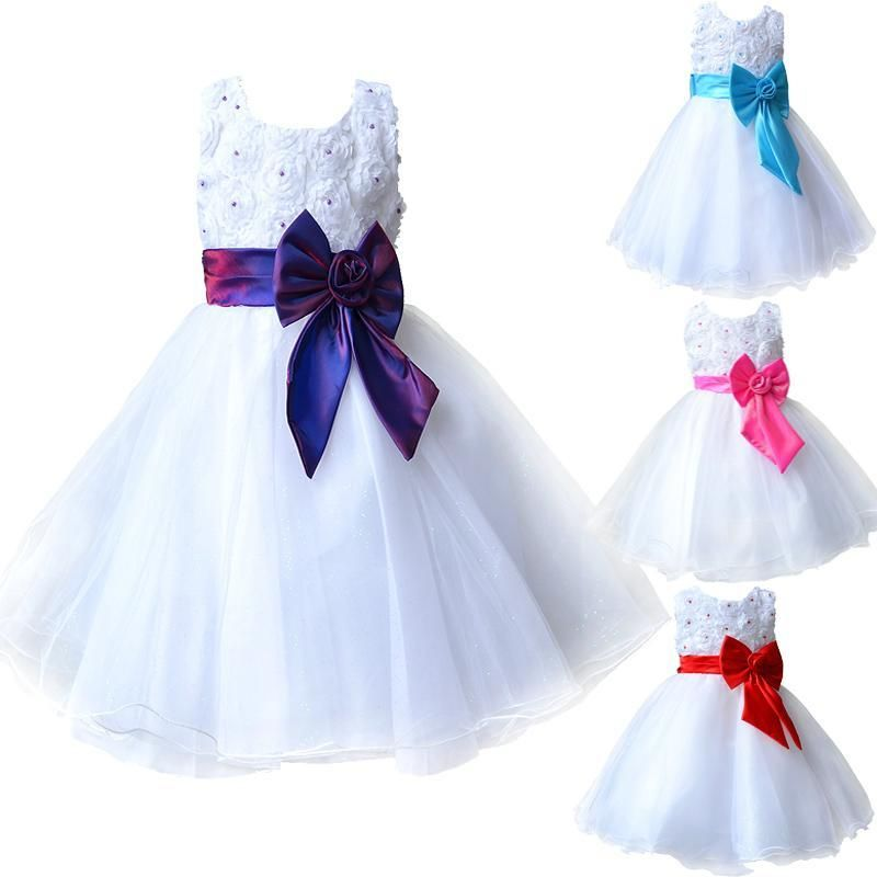 Click To Buy 2017 Hot Flower Girl Dresses For Weddings Pageant White