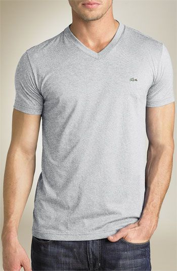 Nordstrom - Lacoste Trim Fit V-Neck T-Shirt $49.50