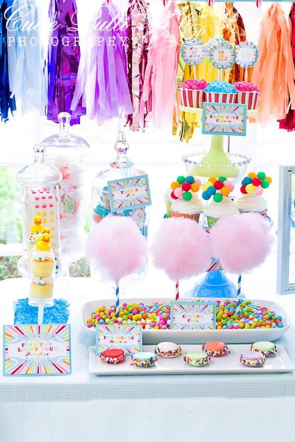 sweet table para un evento de Circo o Feria
