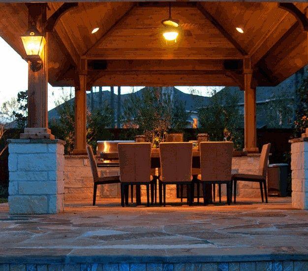Pergola Gazebo Lighting Fixtures Covered Patio Design Patio