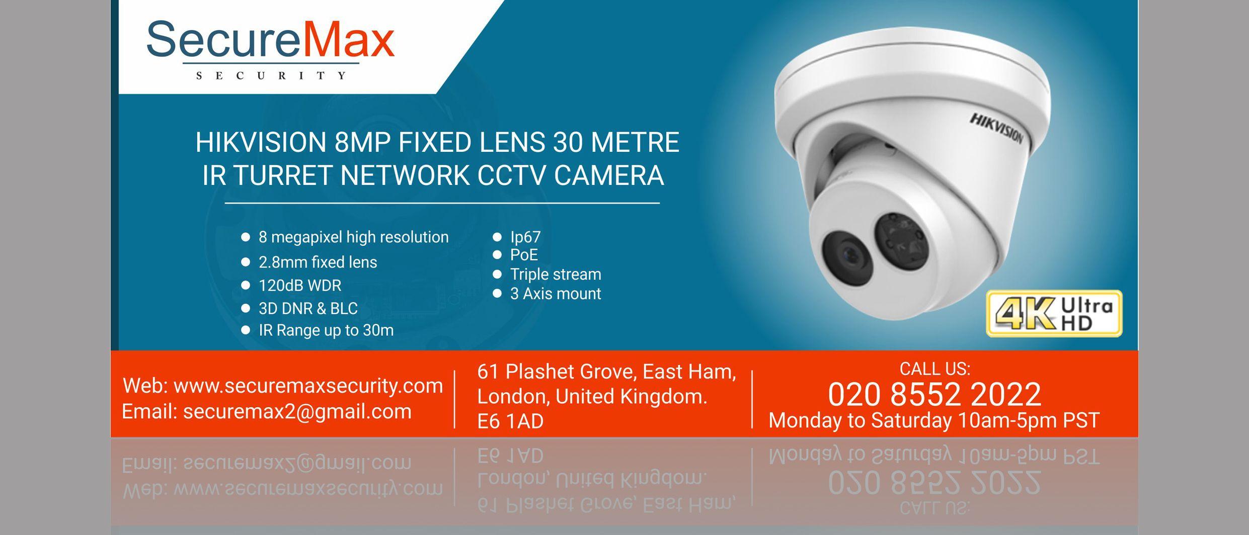Hikvision 8 Megapixel Home Security Cctv Camera In Uk 4k Hd