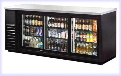 72 Commercial Black Triple Door Back Bar Cooler Refrigerator Beer Dispenser Bar Refrigerator Man Cave Bar Man Cave