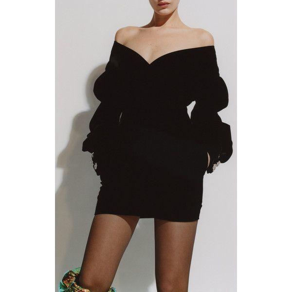 0cb81055bf Off-The-Shoulder Velvet Mini Dress