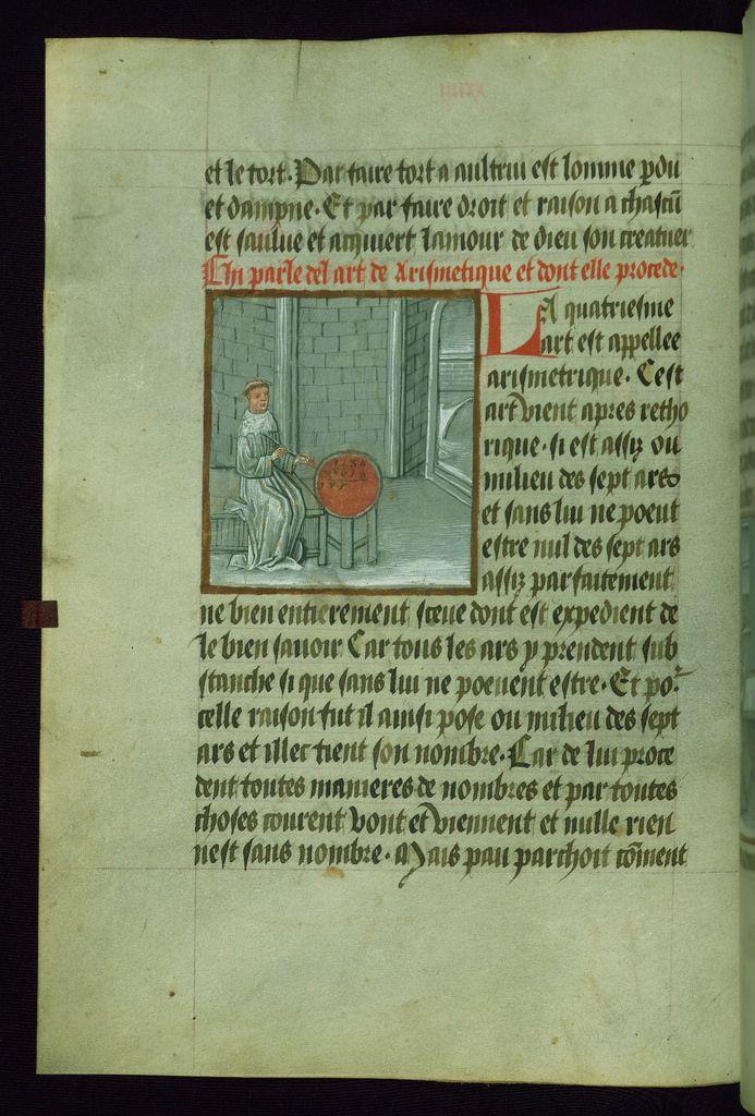 Gossouin Of Metz Image Du Monde Cleric Counting Walters Manuscript W 199 Fol 29v Illuminated Manuscript Medieval Manuscript Manuscript
