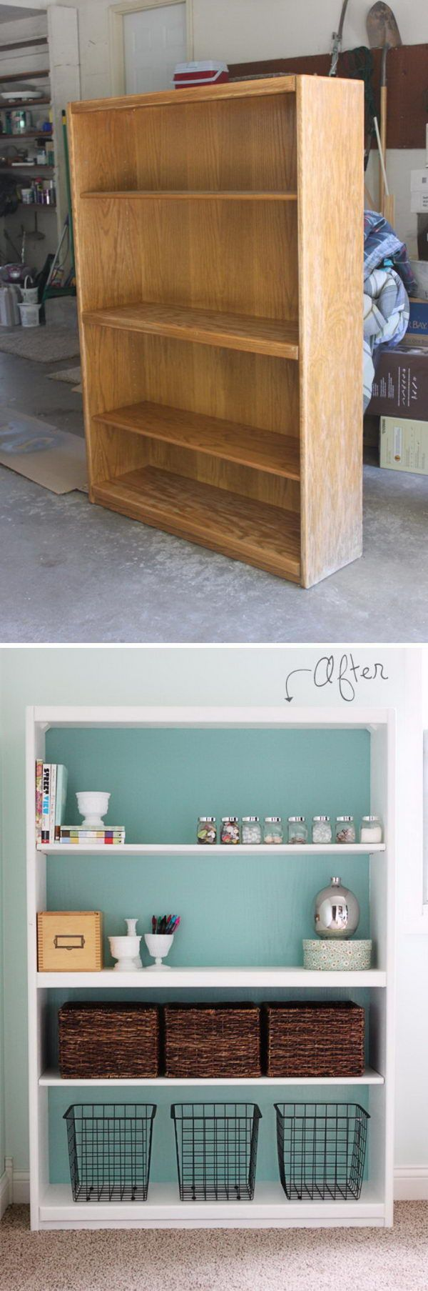 Bookcase Makeover With Before and After. | From Old to New ...