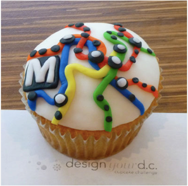 A Cupcake Ode to our headquarter's hometown: DC on a cupcake.