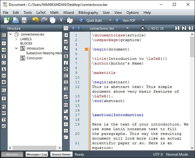 Texmaker u2013 Edit your LaTeX document in free cross-platform LaTeX - fresh relieving letter format pdf file