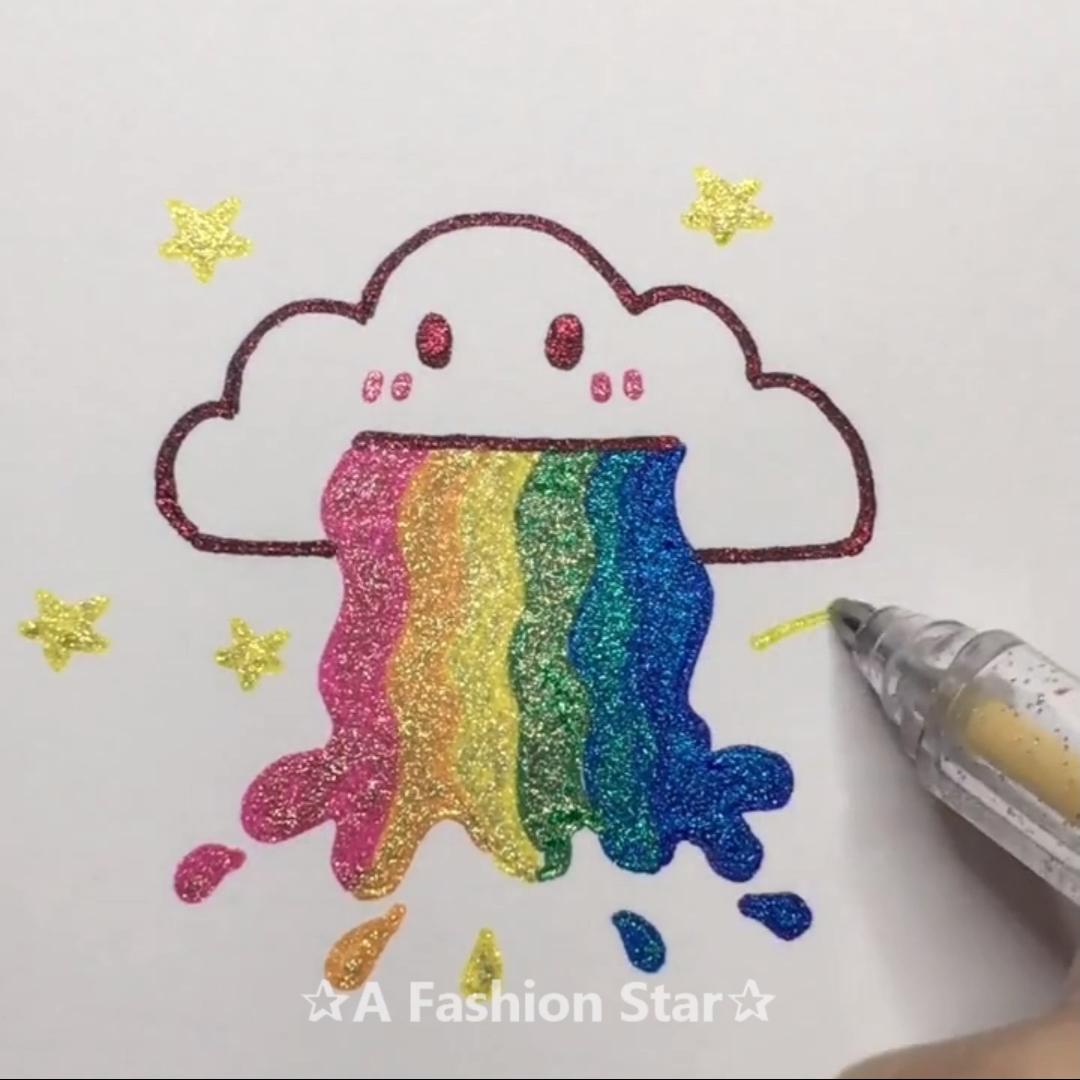 11 Easy Drawing Tutorials – Colored Pen DIY