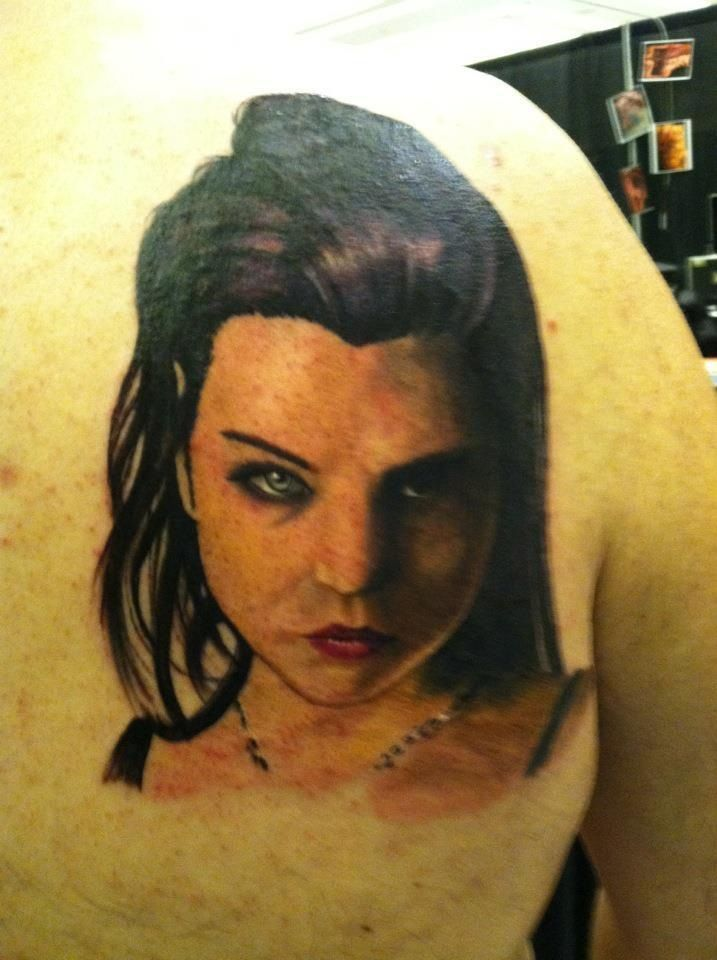 My Amy Lee tattoo done by Hal Sawyer