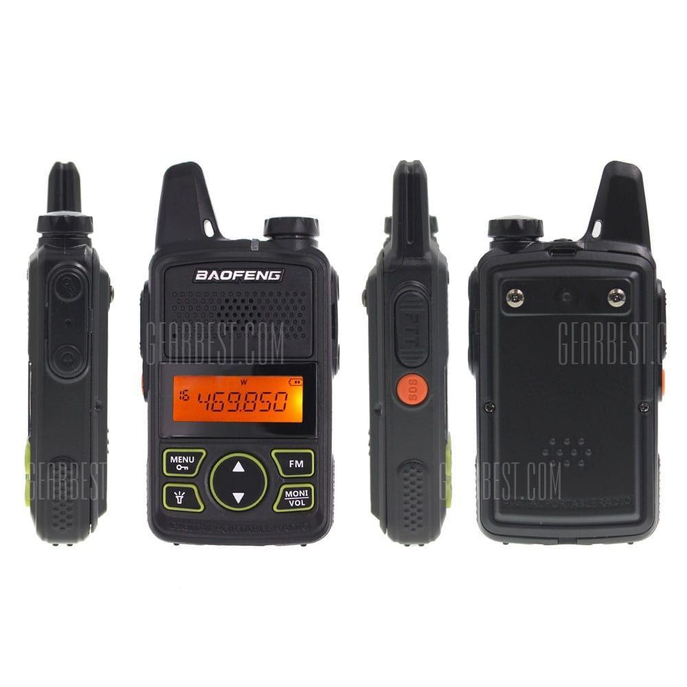 Mini Baofeng BF-T1 Walkie Talkie UHF 400-470MHz  Portable FM Ham Two-Way Radio