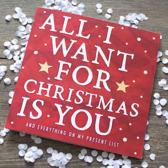 Funny Christmas Card For Boyfriend Girlfriend Husband Wife