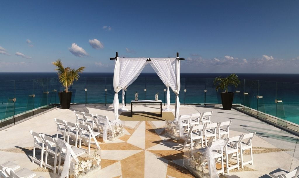 Ever After Destination Weddings Sky Terrace Ceremony At Luxurious Cancun Resort