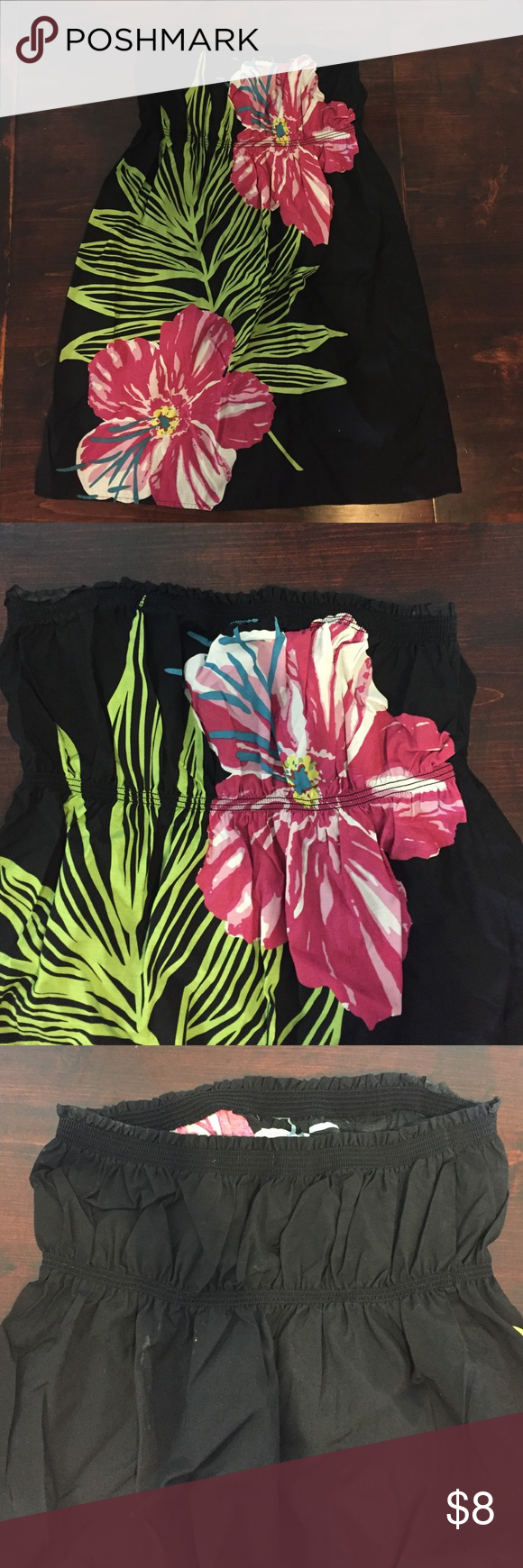 Old Navy Swim Coverup Old Navy Swim Coverup with beautiful flower across the front. Worn once! Hits right above the knee. Old Navy Swim Coverups