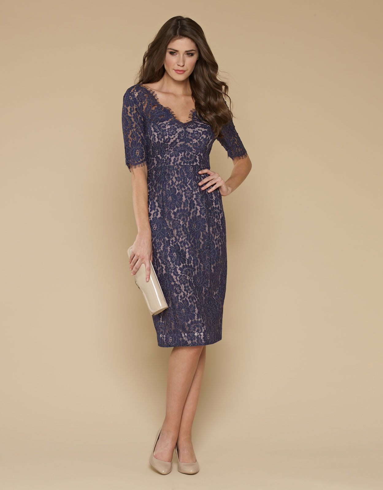 Lacey Lace Dress | Navy | Monsoon - $63 size 4 US | Gatsby and ...