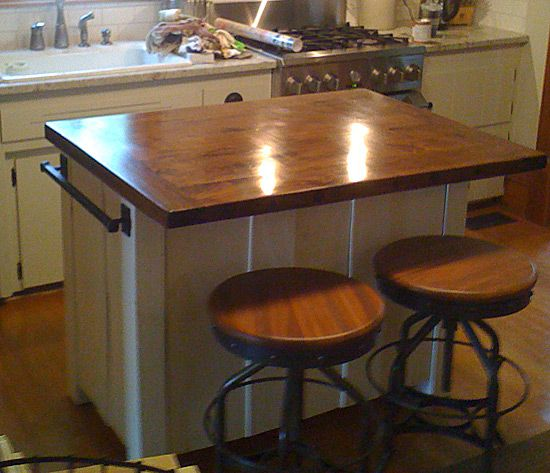 Homemade Kitchen Island: Project Completed | Pinterest
