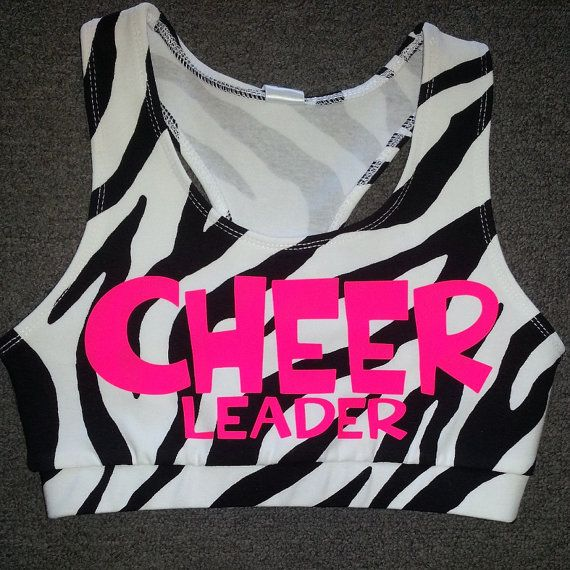 Hey, I found this really awesome Etsy listing at https://www.etsy.com/listing/153082030/zebra-cheerleader-sports-bra