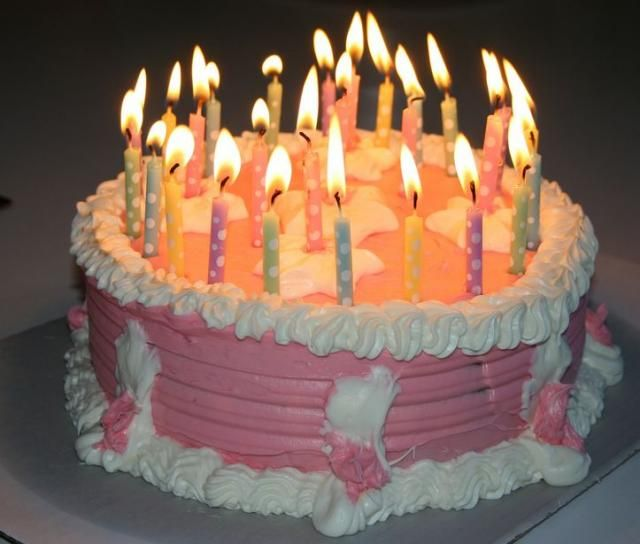birthday cakes with candles pink birthday cake with white cream on birthday cake candles pictures