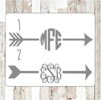30% off ENTIRE Etsy shop!  Use code GRANDOPENING15  Arrow Monogram - Choose your style and size!    This is a Vinyl Decal with your choice of monogram and font. Perfect for your car, water bottle, or