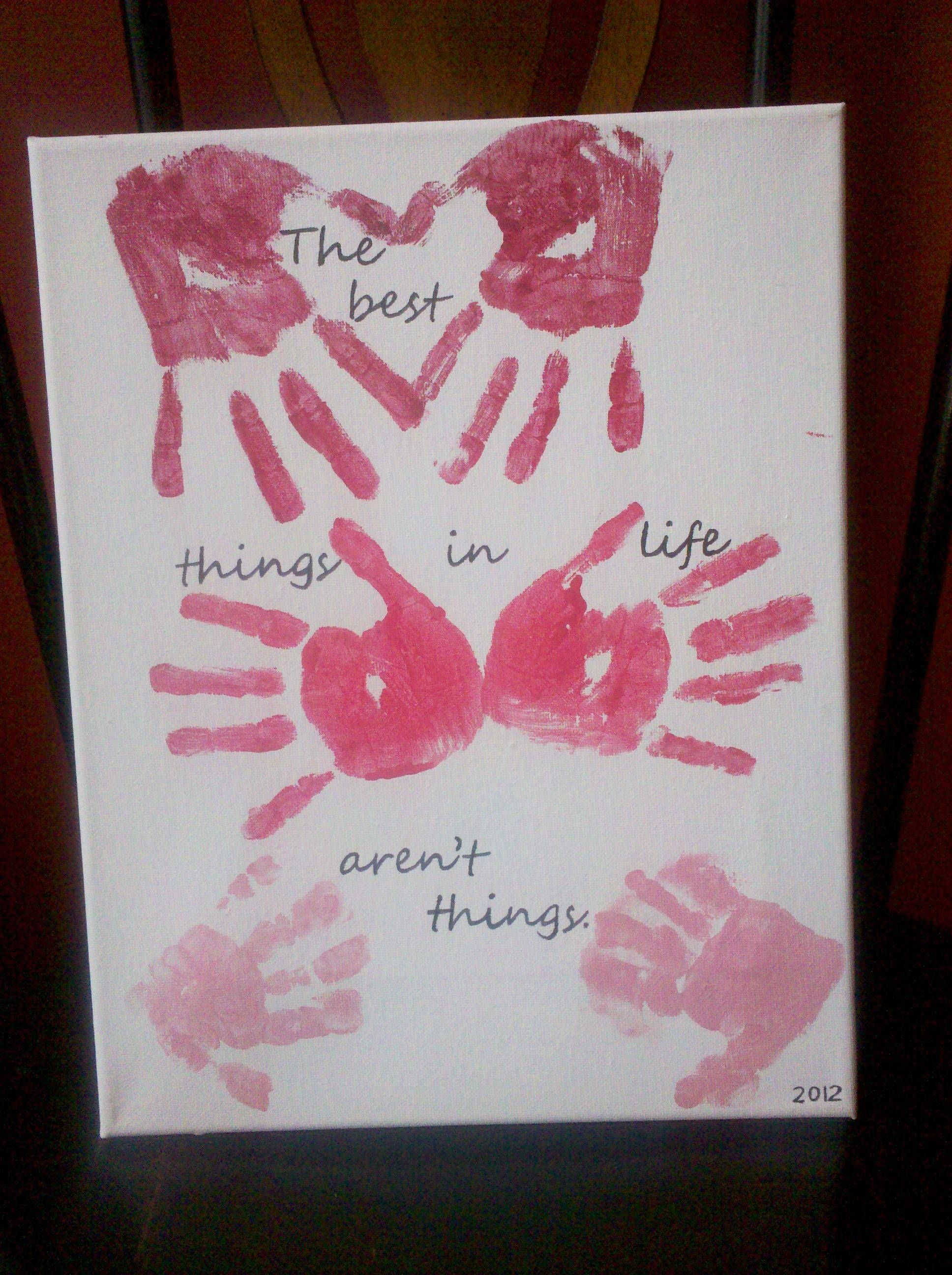 5dd8d8d73 Valentine's Day for dad?? Big kids can do handprints, but Jasper's  footprints can form a heart.