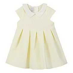 2fb9827a21 J by Jasper Conran - Baby girls  yellow textured spot dress ...