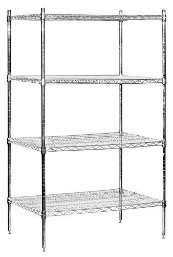 Salsbury Industries Stationary Wire Shelving Unit 36inch Wide By 74inch High By 24inch Deep Chrome Che Wire Shelving Units Wire Shelving Salsbury Industries