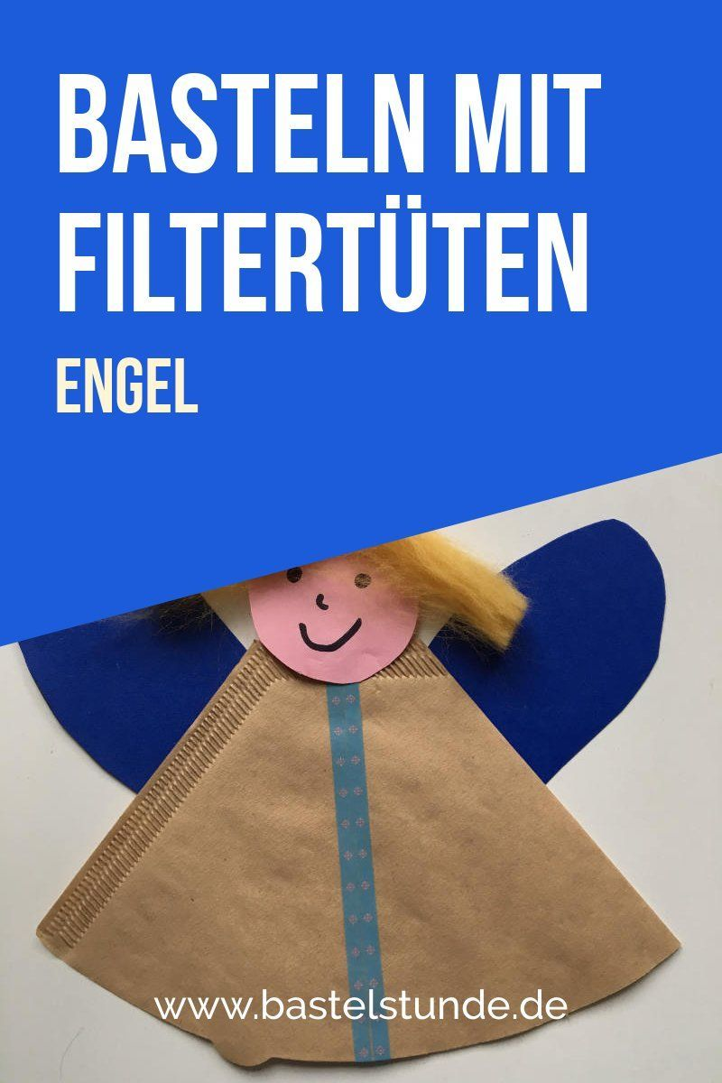 Bastelidee mit Filtertüten: Wir basteln einen kleinen Engel