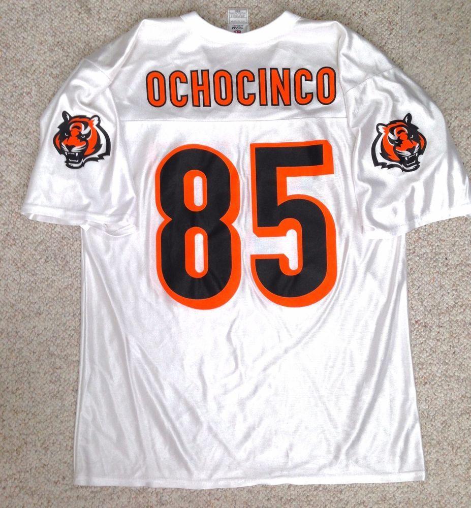 1ee179851 Adult(Med) vtg CINCINNATI BENGALS CHAD OCHOCINCO  85 JERSEY  white black orange  Reebok  CincinnatiBengals