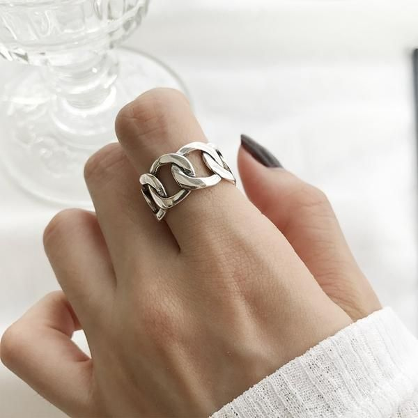 fde39b18ed50c Ancient Jiangnan View Miniature Ring s925 Silver Hollow 3D Style ...