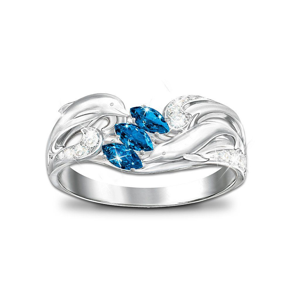 Amazon.com: Splendor Of The Sea: Color-Changing Dolphin Ring by ...