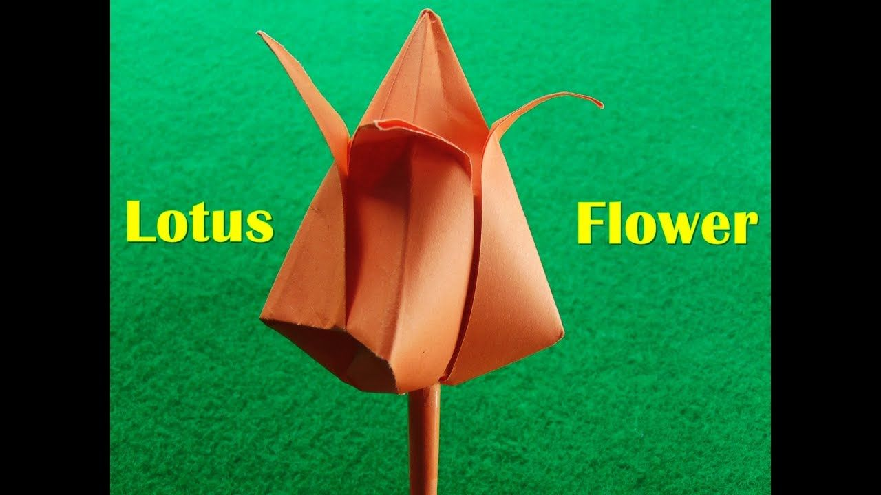 How To Make Paper Flower Origami Lotus Flower Lotus Flower Making