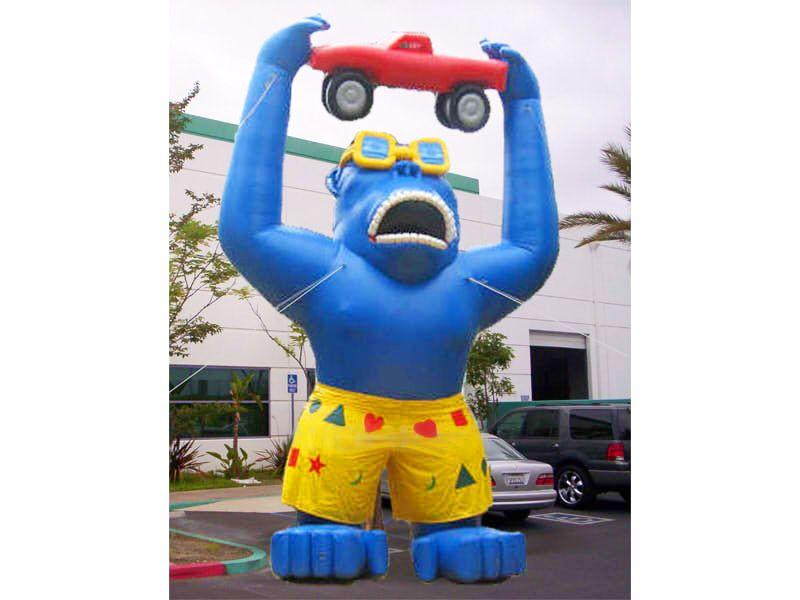 Image result for inflable gigante de gorila