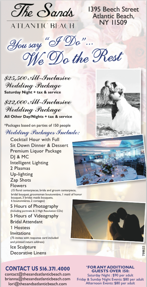 All Inclusive Packages Available At The Sands Atlantic Beach For Your Upcoming Wedding Celebration