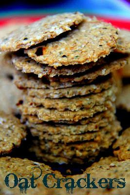 Oat Crackers With Freshly Grounded Indian Spices