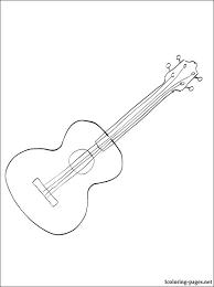 Image Result For Coloring Page Of A Ukulele