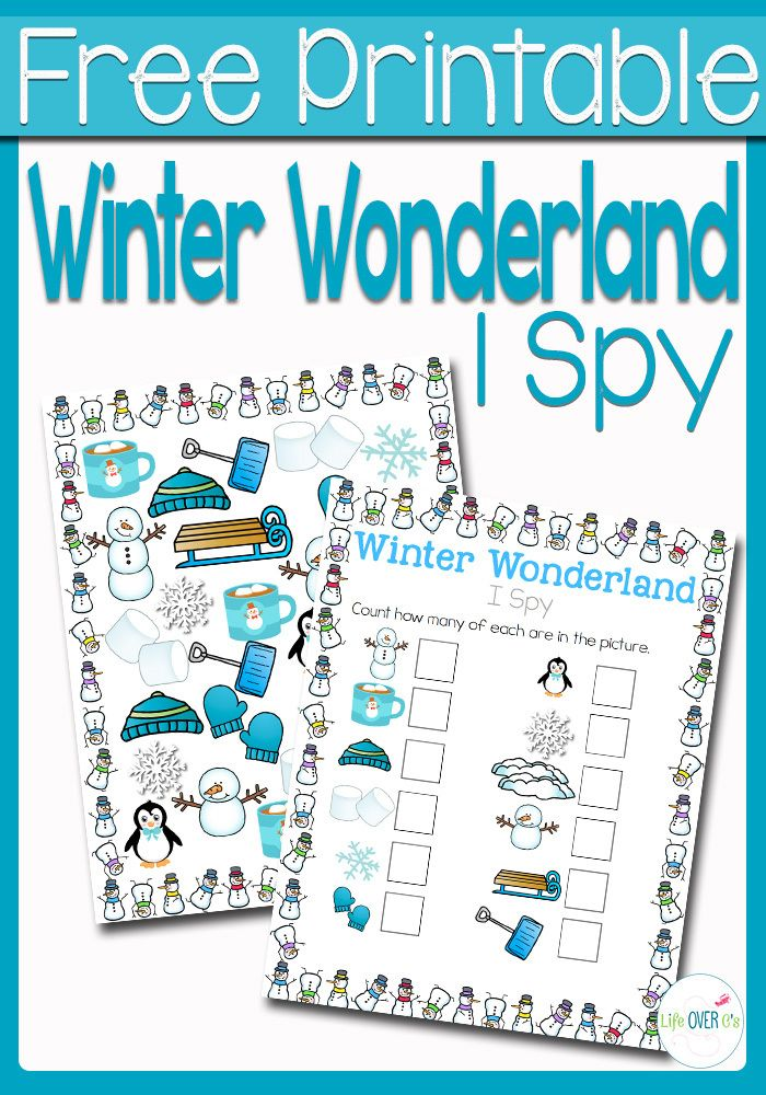 Winter Wonderland I Spy Counting Activity, $0.00 | Winter ...
