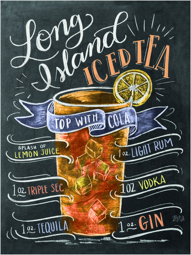 Premium-Poster Long Island Ice Tea Rezept (Englisch) #birthdaymonth