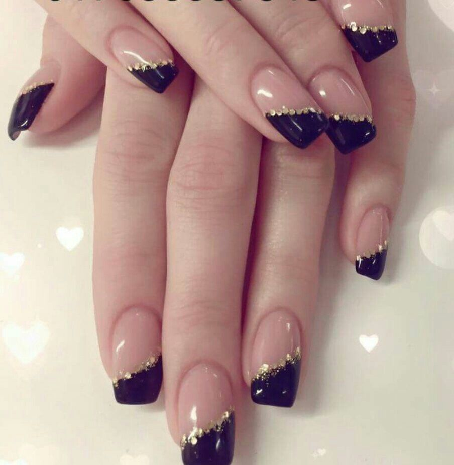 Glitzer #Schwarz #Nägel | Nägel | Pinterest | Fun nails
