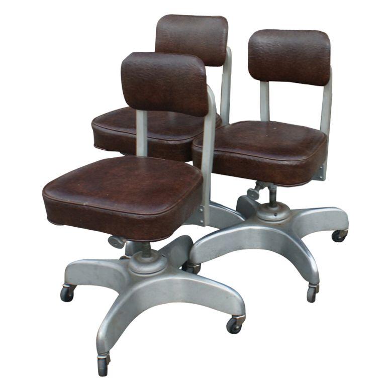 Three Emeco Age Secretarial Desk Chairs