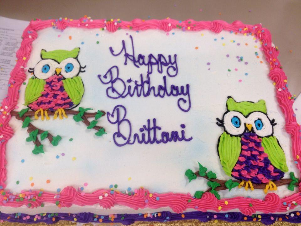 Owl Cake 1st Birthday Themes Girl Birthdays Giant Eagle My Giants