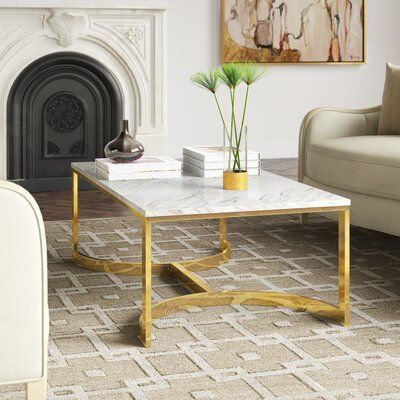 Bernhardt Blanchard 2 Piece Coffee Table Set Brass Coffee Table