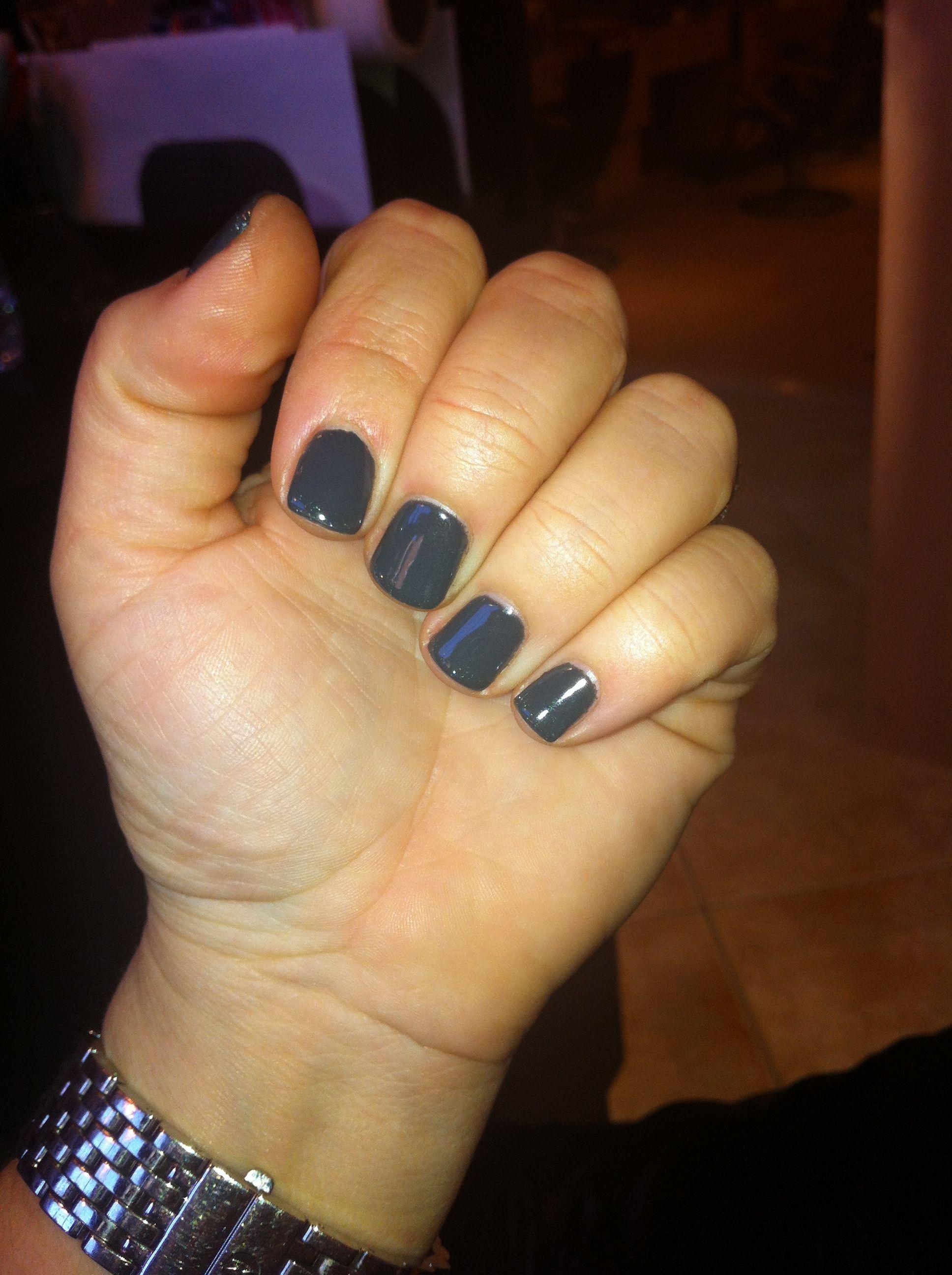 Gelish dark grey uv manicure | health and beauty | Pinterest ...