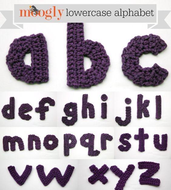 Free #Crochet Patterns: the Moogly Lowercase Alphabet!