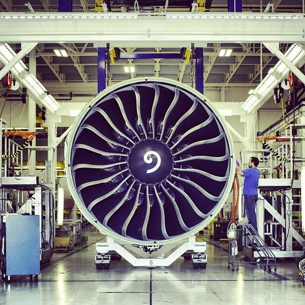 G.E. 90 Gas Turbine Engine with Woodward Main Engine Control system.
