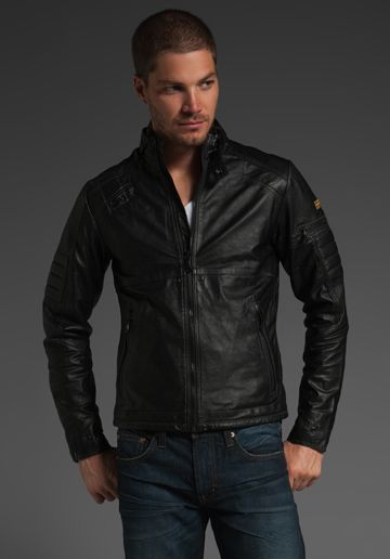 84c6c4013a204 G-Star Tuscan Leather Jacket   Clothes   Pinterest   Leather ...