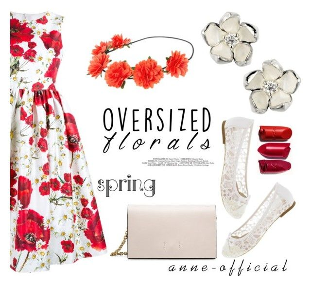"""""""Oversized florals"""" by anne-official ❤ liked on Polyvore featuring Shaun Leane, Dolce&Gabbana and Calvin Klein"""