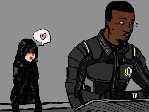 Mass Effect #Kasumi Goto #Jacob Taylor
