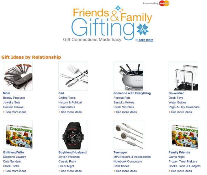 Facebook Launched Social Gifts, Amazon and Cafepress Follow