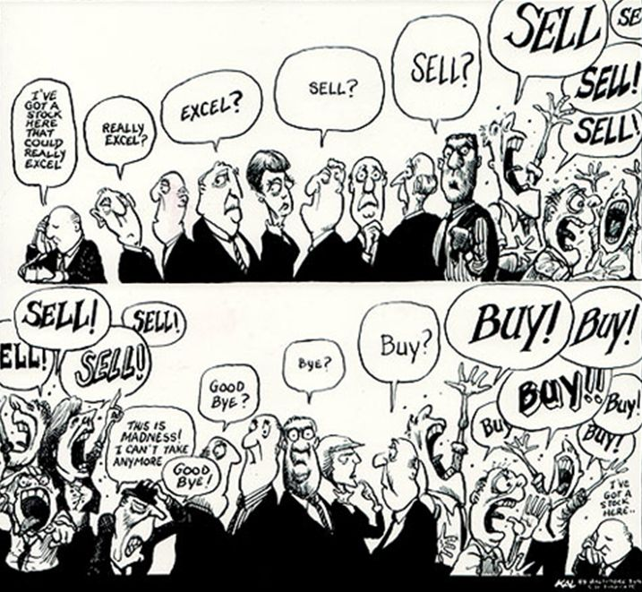 Sell-buy cartoon